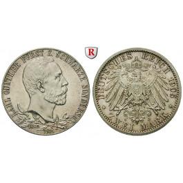 Deutsches Kaiserreich, Schwarzburg-Sondershausen, Karl Günther, 2 Mark 1905, vz/st, J. 169a