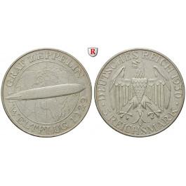 Weimarer Republik, 5 Reichsmark 1930, Zeppelin, A, vz-st, J. 343