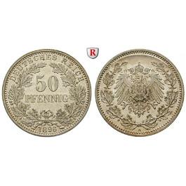 Deutsches Kaiserreich, 50 Pfennig 1896, A, vz-st, J. 15