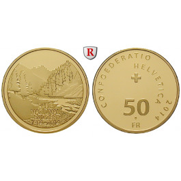 Schweiz, Eidgenossenschaft, 50 Franken 2014, 10,16 g fein, PP