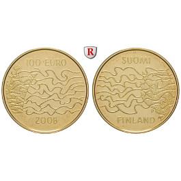 Finnland, Republik, 100 Euro 2008, 7,78 g fein, PP