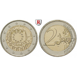 Niederlande, Königreich, Willem Alexander, 2 Euro 2015, bfr.