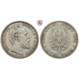 Deutsches Kaiserreich, Anhalt, Friedrich I., 2 Mark 1876, A, ss, J. 19
