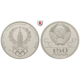Russland, UdSSR, 150 Rubel 1977, 15,43 g fein, PP