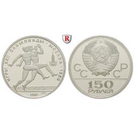 Russland, UdSSR, 150 Rubel 1980, 15,43 g fein, PP