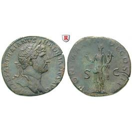 Römische Kaiserzeit, Hadrianus, Sesterz 119, vz/ss+
