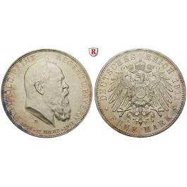 Deutsches Kaiserreich, Bayern, Luitpold, Prinzregent, 5 Mark 1911, 90. Geburtstag, D, vz/vz-st, J. 50
