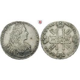 Russland, Peter II., Rubel 1728, ss+