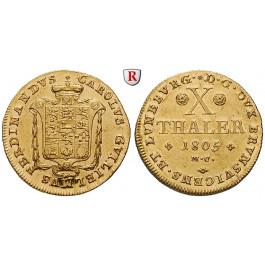 Braunschweig, Braunschweig-Wolfenbüttel, Karl Wilhelm Ferdinand, 10 Taler 1805, vz-st