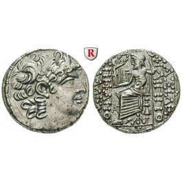 Syrien, Königreich der Seleukiden, Philippos Philadelphos, Tetradrachme Jahr 20 = 30-29 v.Chr., vz