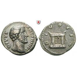 Römische Kaiserzeit, Antoninus Pius, Denar nach 161, ss+