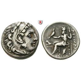 Thrakien, Königreich, Lysimachos, Drachme 299-296 v.Chr., ss