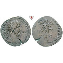 Römische Kaiserzeit, Lucius Verus, Sesterz 164, ss+
