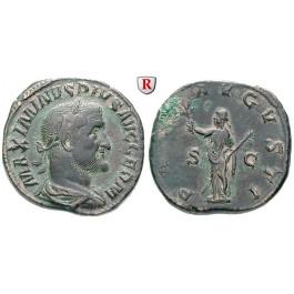 Römische Kaiserzeit, Maximinus I., Sesterz 236-238, ss-vz