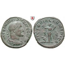 Römische Kaiserzeit, Maximinus I., Sesterz 237, ss-vz