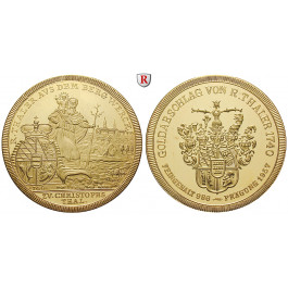 Ausbeute, Württemberg, Goldmedaille 1957, 54,33 g fein, PP