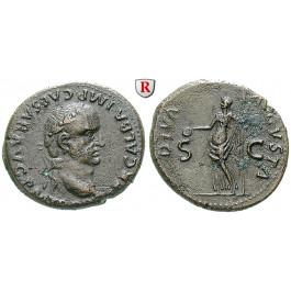 Römische Kaiserzeit, Galba, As Sept.-Dez. 68, f.vz