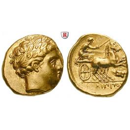Makedonien, Königreich, Philipp II., Stater 340-328 v.Chr., vz/ss-vz