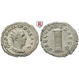 Römische Kaiserzeit, Philippus I., Antoninian 248, vz-st