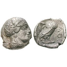 Attika, Athen, Tetradrachme 2. Hälfte 5.Jh. v.Chr., vz