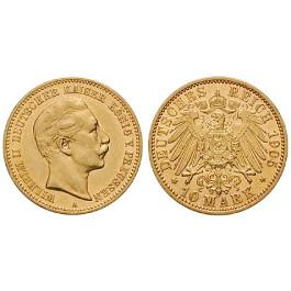 Deutsches Kaiserreich, Preussen, Wilhelm II., 10 Mark 1905, A, ss/vz, J. 251