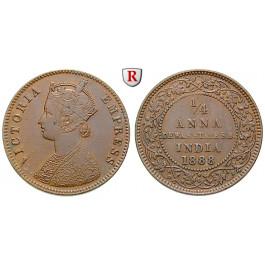 Indien, Dewas, Victoria, 1/4 Anna 1888, f.vz