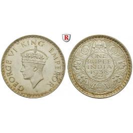 Indien, Britisch-Indien, George VI., Rupee 1916, vz