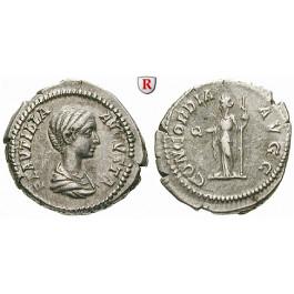 Römische Kaiserzeit, Plautilla, Frau des Caracalla, Denar 202-205, ss