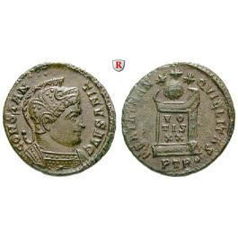 Römische Kaiserzeit, Constantinus I., Follis 321, vz