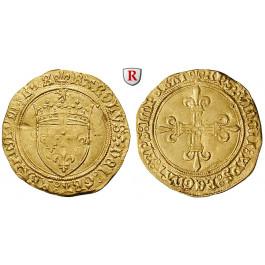 Frankreich, Charles VIII., Ecu d´or au soleil o.J. (1494), f.vz