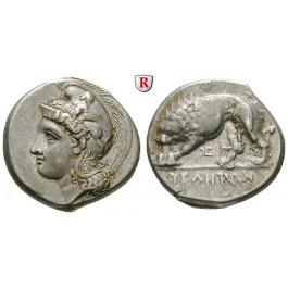 Italien-Lukanien, Velia, Didrachme 334-300 v.Chr., ss-vz/ss