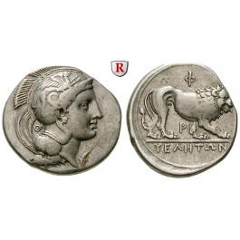 Italien-Lukanien, Velia, Didrachme 340-334 v.Chr., ss+