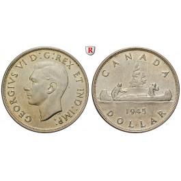 Kanada, George VI., Dollar 1945, f.vz