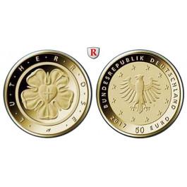 Bundesrepublik Deutschland, 50 Euro 2017, Lutherrose, A, 7,78 g fein, st