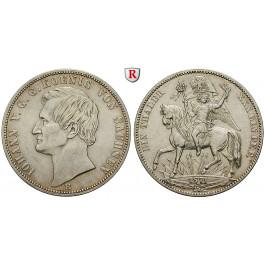Sachsen, Königreich Sachsen, Johann, Siegestaler 1871, vz