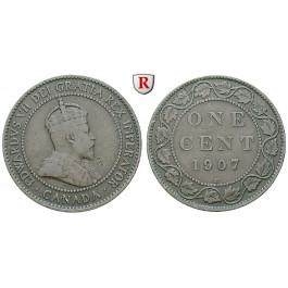 Kanada, Edward VII., Cent 1907 H, f.ss
