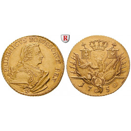 Brandenburg-Preussen, Königreich Preussen, Friedrich II., Doppelter Friedrichs d`or 1750, vz/ss-vz