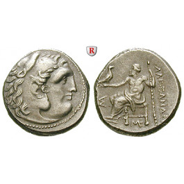 Makedonien, Königreich, Alexander III. der Grosse, Drachme 323-280 v.Chr., vz