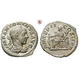 Römische Kaiserzeit, Elagabal, Denar 219, vz-st