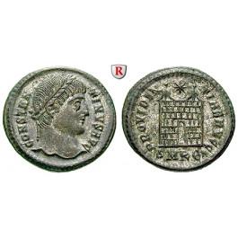 Römische Kaiserzeit, Constantinus I., Follis 324-25, vz-st