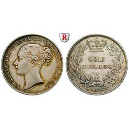 Grossbritannien, Victoria, Shilling 1843, f.vz