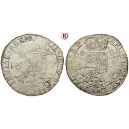 Belgien, Brabant, Philipp IV., 1/2 Patagon 1627, ss+