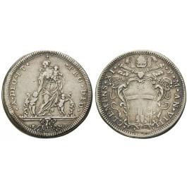 Vatikan, Clemens XI., Testone 1707-1708 (Anno VIII), ss