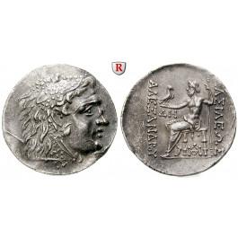 Makedonien, Königreich, Alexander III. der Grosse, Tetradrachme 125-70 v.Chr., ss-vz