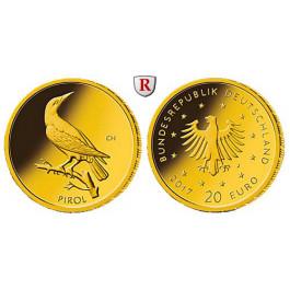 Bundesrepublik Deutschland, 20 Euro 2017, nach unserer Wahl, D-J, 3,89 g fein, st
