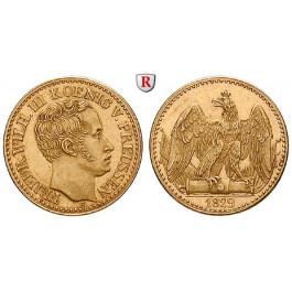 Brandenburg-Preussen, Königreich Preussen, Friedrich Wilhelm III., 1/2 Friedrichs d`or 1829, f.st