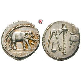 Römische Republik, Caius Iulius Caesar, Denar 49-48 v.Chr., vz-st