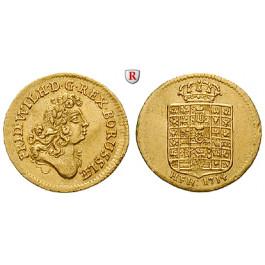 Brandenburg-Preussen, Königreich Preussen, Friedrich Wilhelm I., 1/2 Dukat 1714, vz/ss-vz