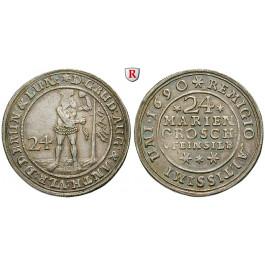 Braunschweig, Braunschweig-Wolfenbüttel, Rudolf August und Anton Ulrich, 24 Mariengroschen 1690, vz