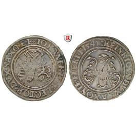 Sachsen, Gemeinschaftliche Prägungen, Johann Friedrich und Heinrich, 1/2 Taler 1541, ss